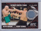 2009 TOPPS ULTIMATE FIGHTER KEITH JARDINE vs KERRY SCHALL FIGHT MAT RELIC UFC