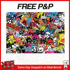 NEW VW STICKER BOMB SHEET- SIZE:1M X 180MM (VW/STICKERS/ EURO/ DRIFT/JDM) COLOUR