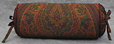 Neckroll Pillow made w/ Ralph Lauren Greycliff Paisley Fabric trimmed in cord