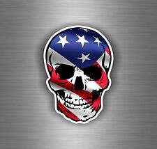 Sticker car motorcycle helmet decal vinyl chopper flag biker skull usa