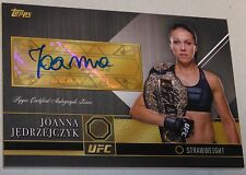 Joanna Jedrzejczyk Signed 2016 UFC Topps Top of the Class Card #JJ TOC Autograph