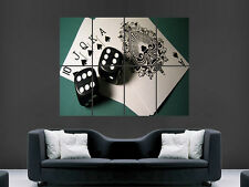 CASINO DICE POKER CARDS   LARGE ART BIG HUGE GIANT POSTER PRINT