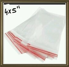 100PCS Plastic Zip lock Zip Seal Pouch Bags Size- 4x5 INCH Resealable Clip 1 bag