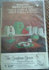 VIP The Gingham Goose Strawberry Kitchen Kollection patterns vintage 1980 New