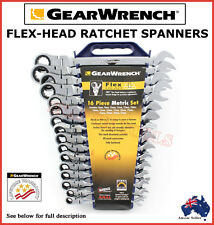 GEARWRENCH FLEX HEAD RATCHET SPANNER SET TRADE QUALITY TOOLS 16PCS CRV SPECIAL