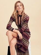 FREE PEOPLE* NWT$198 Good Vibrations Maxi Dress* Multi Combo Sz M **SOLD OUT**