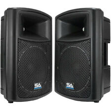 "(2) SEISMIC AUDIO 12"" Molded PA SPEAKERS Speaker System"