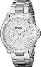 Fossil Womens AM4509 Cecile Multifunction Silver-Tone Stainless Steel Watch