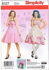 Vtg Retro 50s Rockabilly Halter Dress Lolita Sewing Pattern Plus 16 18 20 22 24
