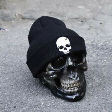 Winter Unisex Men Skull Knitted Beanie Reversible Baggy Cap Warm Sports Punk Hat