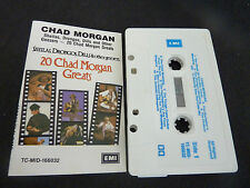 CHAD MORGAN 20 GREATS RARE AUTOGRAPHED AUSSIE CASSETTE TAPE!