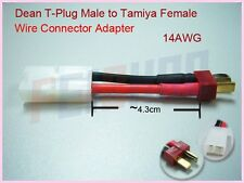 Deans T plug Male to Tamiya Female 14AWG Battery Converting Wire Adapter F01890