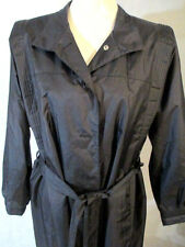 WOMEN'S SiZE 15/16 RAIN TRENCH COAT ZIP LINED WEATHER WISE-BLACK-LONG
