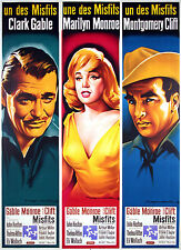 THE MISFITS - ORIGINAL FRENCH POSTER - MARILYN MONROE