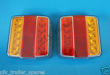 FREE P&P* 2 x LED Trailer Lamps Stop Tail Indicator Number Plate 12v #8893