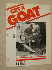 1980s BILLY GOAT TR-SERIES TRUCK LOADER SYSTEM VACUUM CLEANER BROCHURE