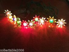 Vintage Matchless Wonder Star String of 10 Christmas Tree Lights with New Strand