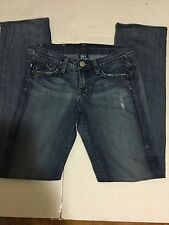 Victoria Beckham For Rock & Republic Distressed Straight Leg Denim Jeans Size 26