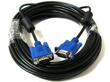 30FT BLUE SVGA VGA ADAPTER Monitor M/M Male To Male Cable CORD FOR PC TV