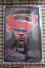 Batman & Superman Logo Tin Metal Sign Painted Poster Comics Book Superhero Wall