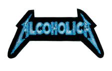 Alcoholica Metallica Spoof Patch Iron on Applique Alternative Clothing Heavy