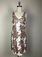 NWT J. Crew Women LINEN SUNDRESS IRIDESCENT SEQUIN item C7916 ivory size 10