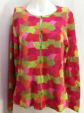Talbots Hand Knit Colorful Button Down Cardigan Sweater, Women's Size M, New