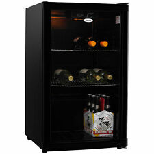 Heller 115L Beverage Cooler Wine Bar Fridge Refrigerator Drinks Black HBC115B