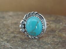 Navajo Indian Jewelry Sterling Silver Turquoise Ring Size 6.5 by Cadman