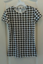 Ann Avenue Houndstooth Ladies Cotton / Spandex T-Shirt Top Alabama Crimson Tide