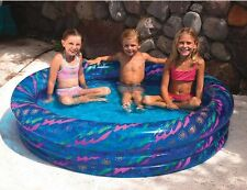 "Swimline 9090 Swimming Pool 60"" Inflatable 3 Ring Printed Kid Pool, yellow"