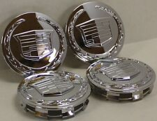 (SET OF 4) BRAND NEW GENUINE OEM Cadillac Escalade 3 1/4 Chrome Center Caps