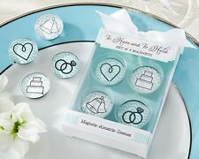 To Have and to Hold Glass Wedding Magnets Bridal Shower Favors Gift Fun Set of 4