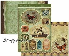 Flight Of The BUTTERFLIES Card Making Kit Paper Crafting HUNKYDORY FOTB906 New