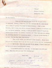 ALEXANDER CORDELL TYPED & SIGNED LETTER circa 1959 - 1960 PRE HOSTS OF REBECCA