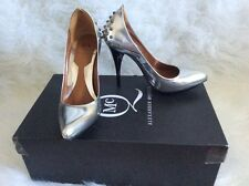 McQ by Alexander McQueen silver studded pump size 36 6