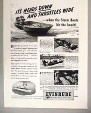 Evinrude Outboard Boat Motor PRINT AD - 1944 ~~ Storm Boats