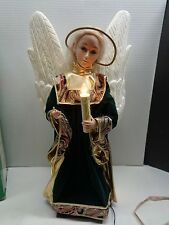 "Vintage 27"" Motionette Angel Animated Christmas Holiday Creations Green Variatio"