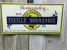 Vintage Retro Kitchen Bar French 'Calvados' Normandy Brandy Advertising Sign