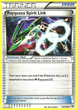 RAYQUAZA SPIRIT LINK 87/108 - XY ROARING SKIES POKEMON TRAINER CARD