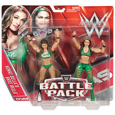 WWE BRIE & NIKKI BELLA TWINS BATTLE PACK SERIES 38 FIGURES TOTAL DIVAS BELT