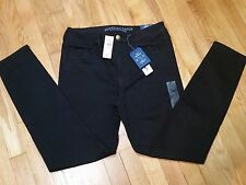 American Eagle Hi Rise Jegging Jeans 2 r Super Stretch Black AEO Denim X NWT