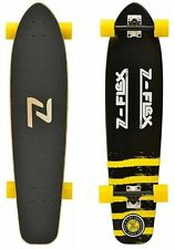 "Z-Flex 9.25"" x 38"" Kicktail Longboard Complete Black/Yellow"