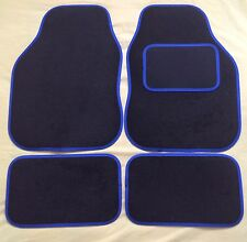 CAR MATS BLACK WITH BLUE TRIM FOR HYUNDAI COUPE AMICA TRAJET GETZ I10 120