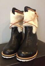 NEW Matt Bernson Sierra Shearling Lamb Fur Shaft Leather Boot Women's SZ 6 (6.5