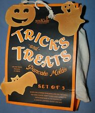 NIP Williams Sonoma Kids Tricks and Treats Halloween Pancake Molds Pumpkin Bat