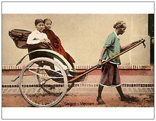 Vietnam - Old SaiGon - Transportation. Reproduction Postcard. Unused. RARE