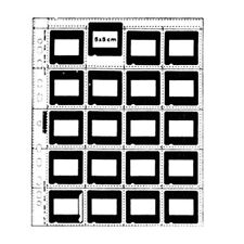 "100 X SLIDE CLEAR SHEET 5x5 cm 2x2"" 35mm 135 Film MOUNTS Filing Sleeve Storage i"