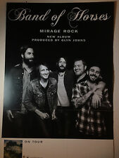 Band of Horses RARE Mirage Rock Poster Promo NEW + FREE POSTER! Double-Sided