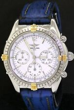 Breitling B30011 SS automatic chronograph men's watch with Blue band & box